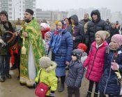 Детский крестный ход на Вербное воскресенье 2018