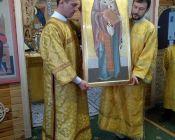 Освящение иконы Св. Николая Чудотворца