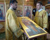 -Освящение иконы Св. Николая Чудотворца