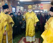 Патриарший Экзарх совершил Литургию в храме в честь святителя Николая Японского города Минска (фото 18)