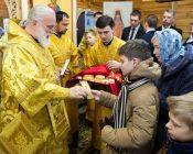 Патриарший Экзарх совершил Литургию в храме в честь святителя Николая Японского города Минска (фото 38)