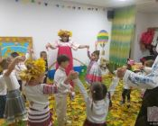 праздничное занятие в детской студии 22