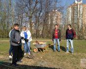 Субботник на экологической тропе с работниками прокуратуры Фрунзенского района