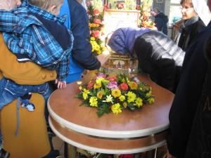 У ковчега с мощами святителя
