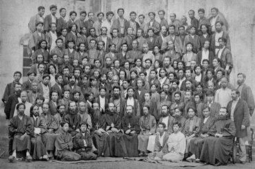Групповая фотография участников Всеяпонского Православного Собора 1882 г. В центре сидит св. равноап. Николай Японский