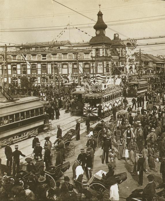 На улицах Токио. Фото 1905 г.