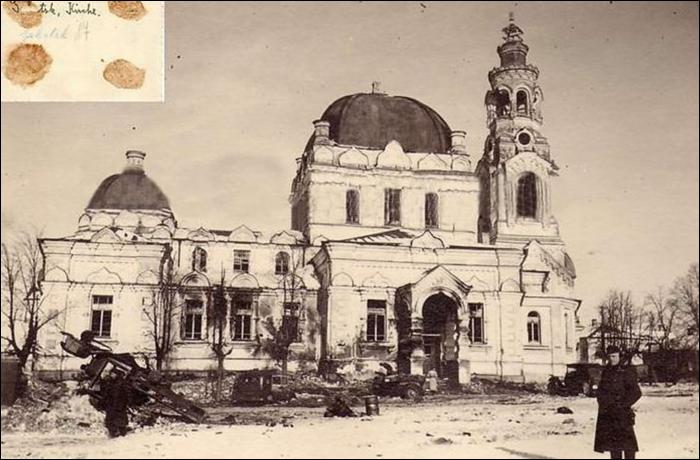 Благовещенский храм в Смоленской области без крестов. Фото 1941 года