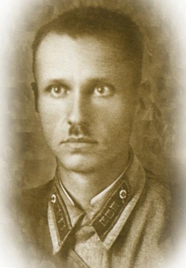 Старший лейтенант Извеков С. М. (будущий патриарх Пимен), 1940-е гг.