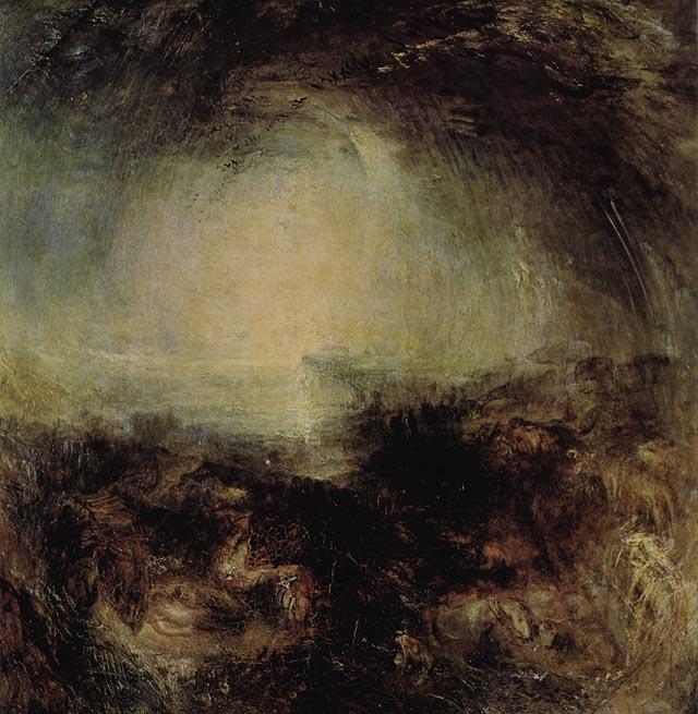 Тень и мрак — Вечер перед Потопом. Уильям Тернер. 1843
