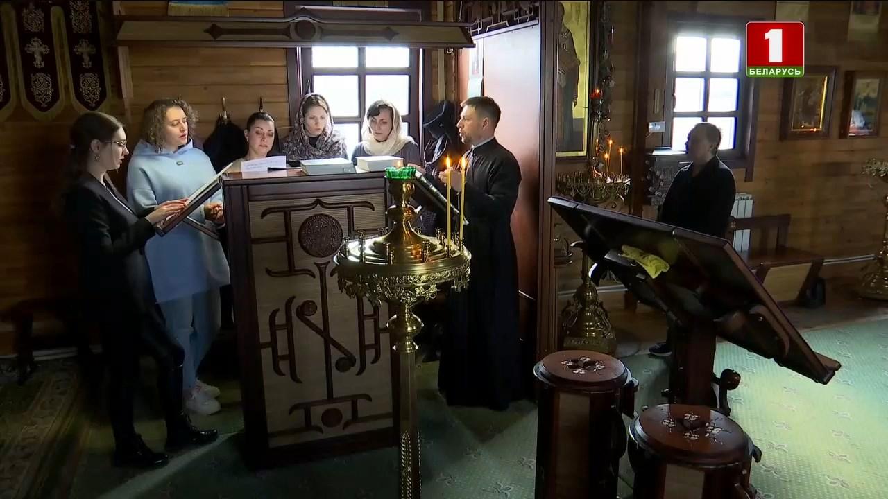 Участие хора храма Николая Японского в передаче Iснасць